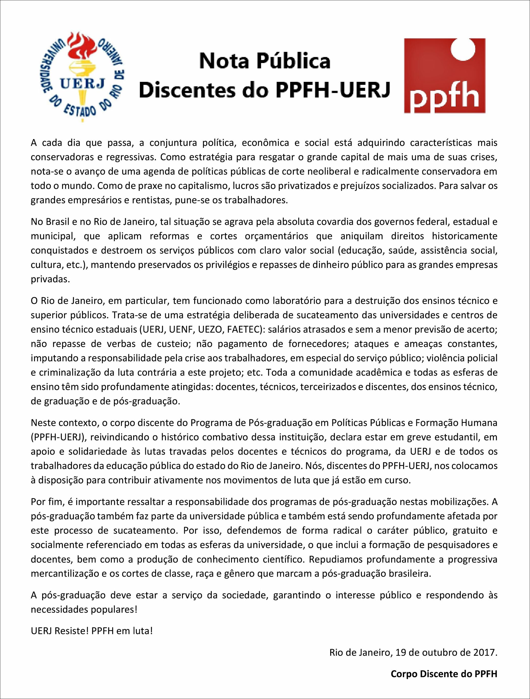 Discentes PPFH_Nota Publica
