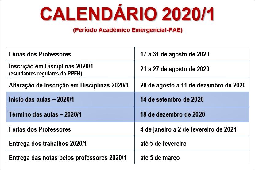 Calendario 2020-1